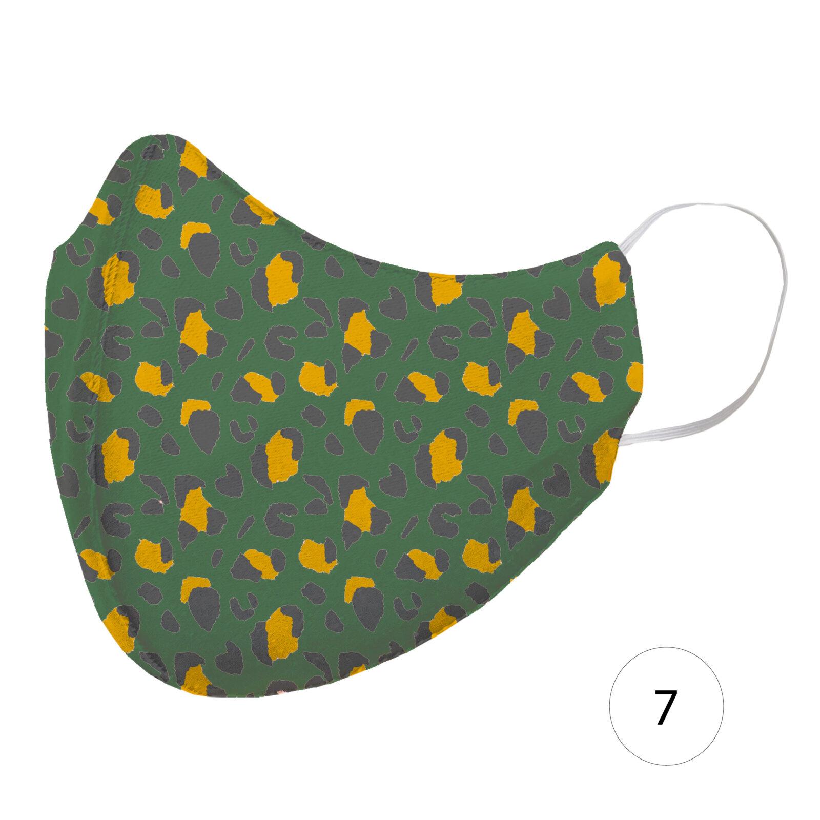 Olive leopard mask